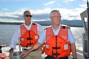 Maloney joins Coast Guard for on the river tour of the Hudson