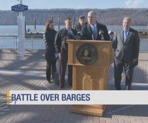 Activists voice concerns about possible Coast Guard barges on Hudson