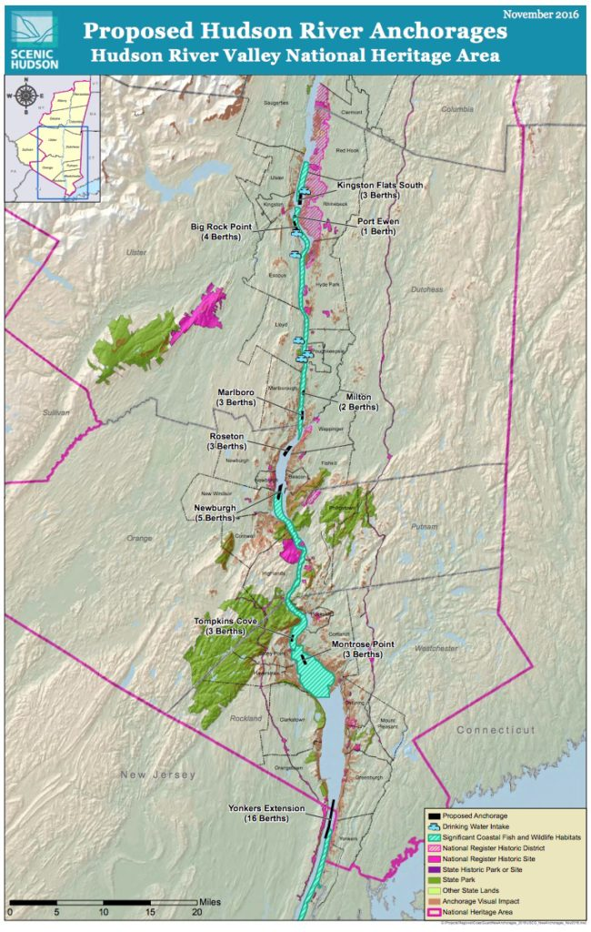 Hudson River Anchorages Oil Barges On The Hudson